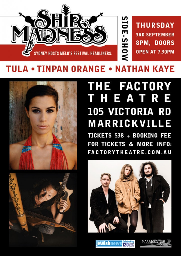 SYDNEY-SIDE-SHOW: Tula - Tin Pan Orange - Nathan Kaye